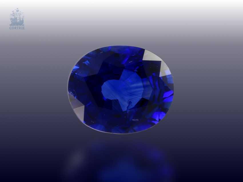 Sapphire: beautiful, natural blue Ceylon sapphire of 2.63 ct, certificate - photo 1