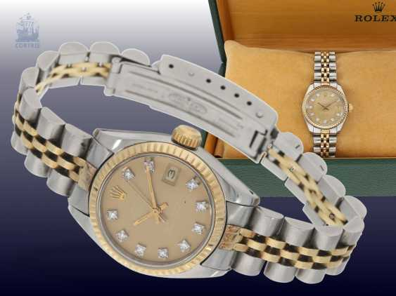 Watch: luxury vintage ladies watch from Rolex, Lady-Datejust with diamond dial, steel/Gold, original box - photo 1
