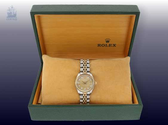 Watch: luxury vintage ladies watch from Rolex, Lady-Datejust with diamond dial, steel/Gold, original box - photo 2