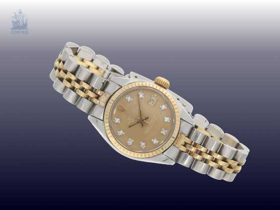 Watch: luxury vintage ladies watch from Rolex, Lady-Datejust with diamond dial, steel/Gold, original box - photo 3