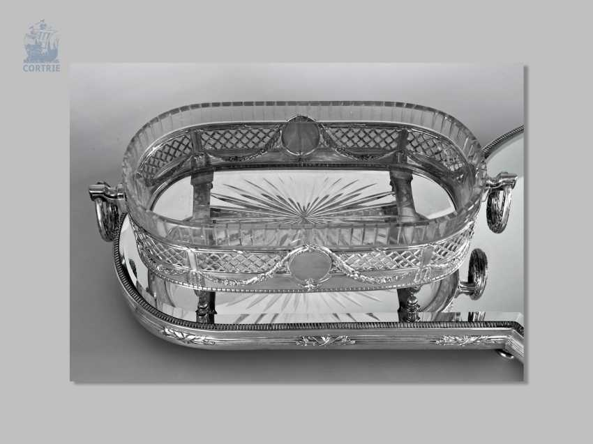 Panel attachment: exceptionally large, four-piece silver centerpiece, very ornate antique work, German, around 1900 - photo 3