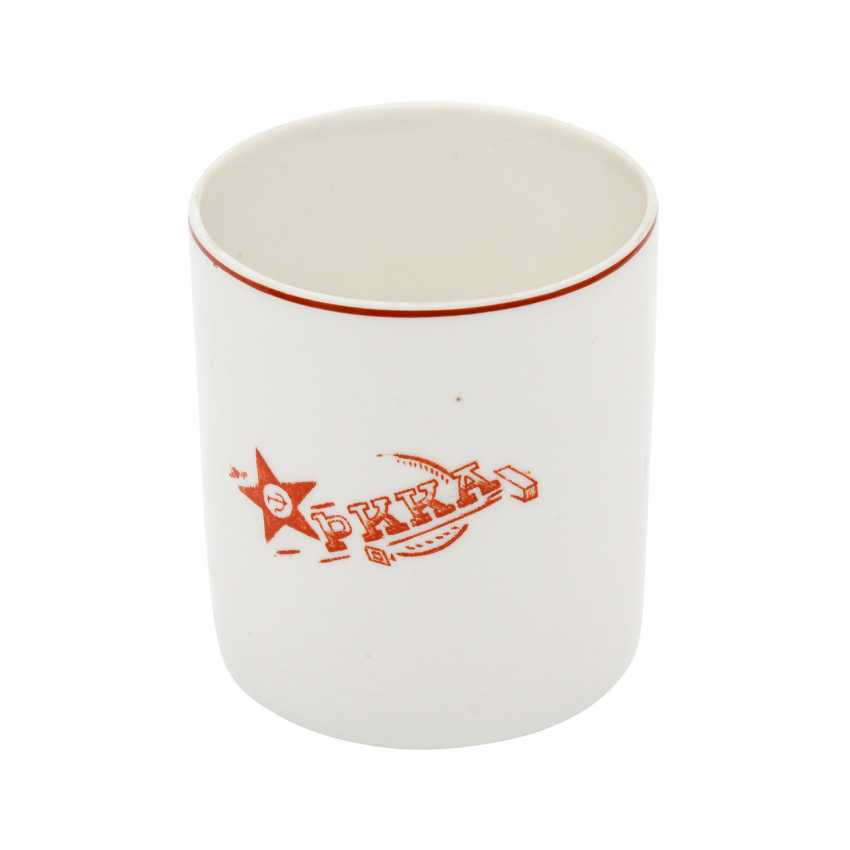 USSR - to-drink Cup with Logo of the Red army after 1917, - photo 1