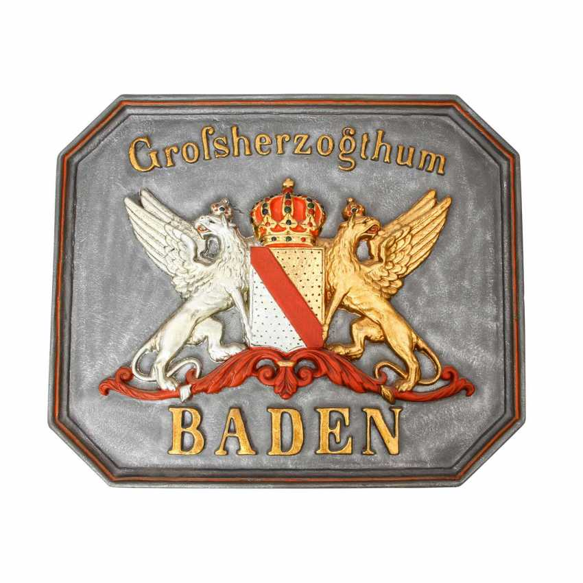 Baden - Heavy Coat-Of-Arms Plate The Grand Duchy Of Baden, - photo 1