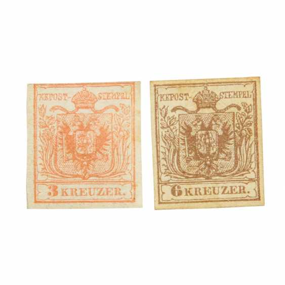 Austria - 1850, collection of 2 marks (3+6 Kreuzer),  - photo 1