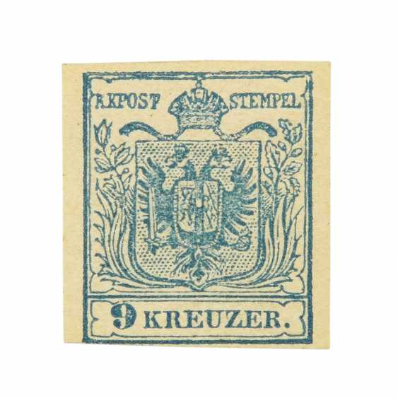 Austria - 1850, 9 Kreuzer light blue, folded,  - photo 1