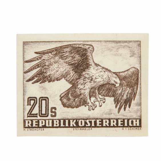 Austria - 1952, 20 shillings eagle imperforated,  - photo 1