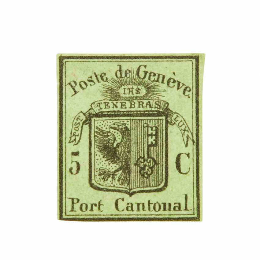 Switzerland, Canton of Geneva - 1846, 5 C unused,  - photo 1