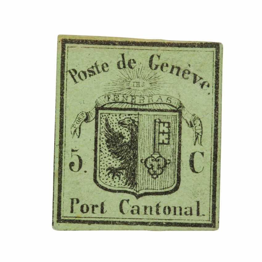 Switzerland, Canton of Geneva - 1845, 5 C unused,  - photo 1