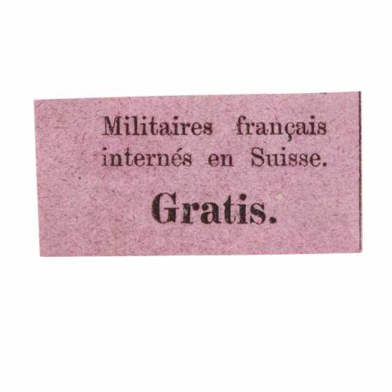 Switzerland – 1871, Porto brand for Intern French military, - photo 1