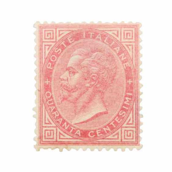 Italy - 1863, free brand king Viktor Emanuel II, - photo 1