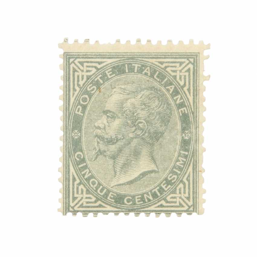 Italy - 1863, free brand king Viktor Emanuel II, - photo 1