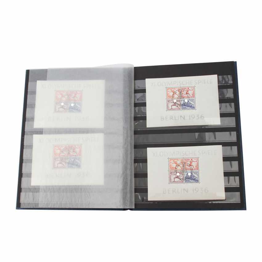 German rich - Very beautiful sheet items with Block Mi. No. 4x 1 x post stamped fresh, 2 x - photo 1