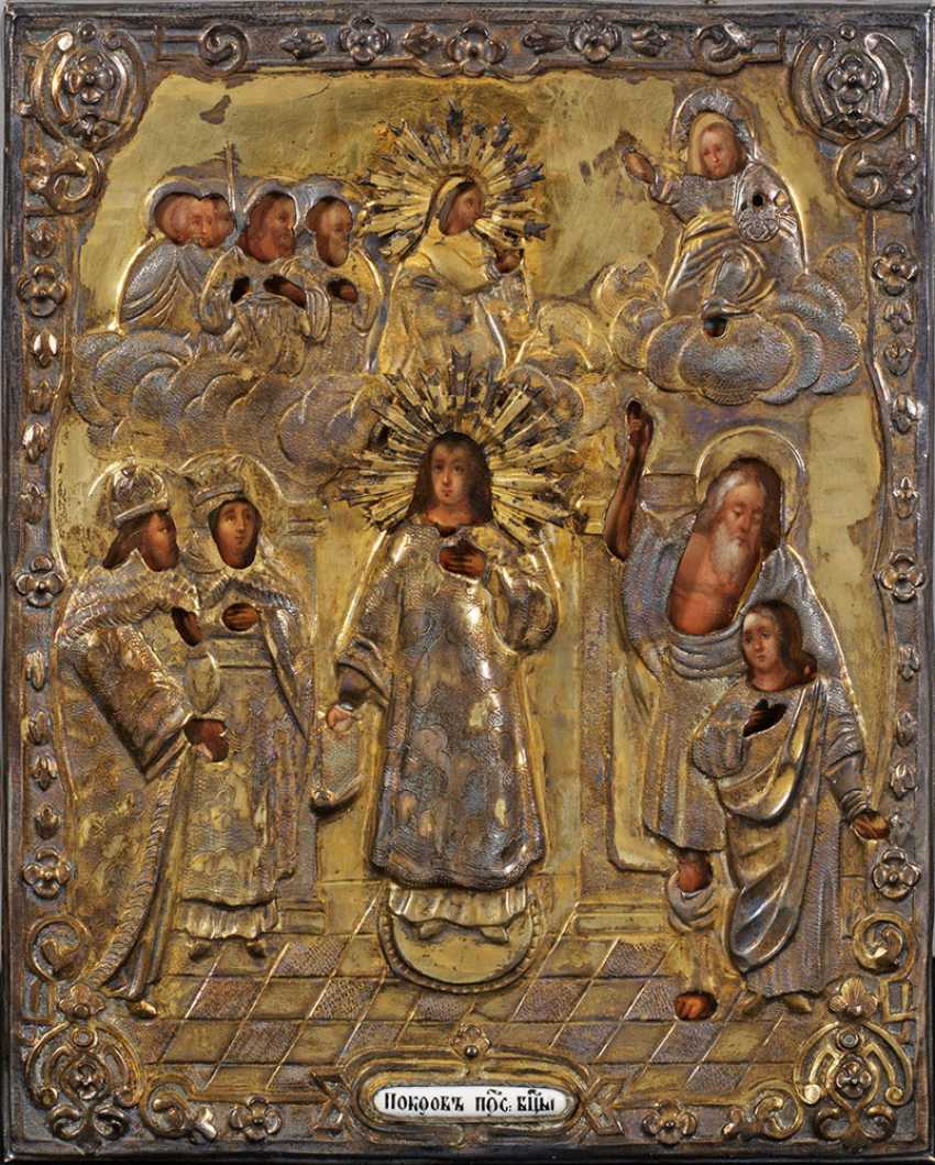 "Small Oklad icon ""mother of God intercession"" - photo 1"