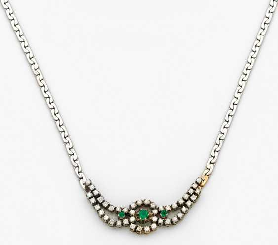 Fine emerald necklace from the 50s - photo 1