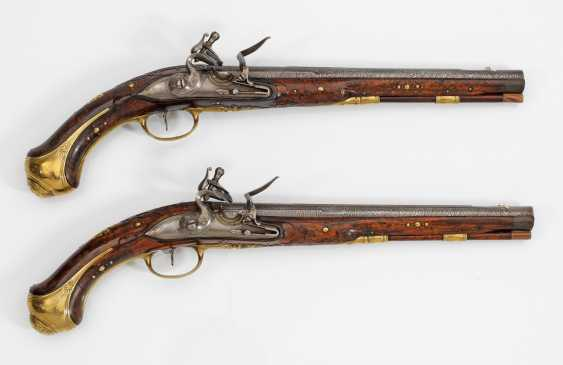 High quality Pair of flintlock pistols of Museum quality - photo 1