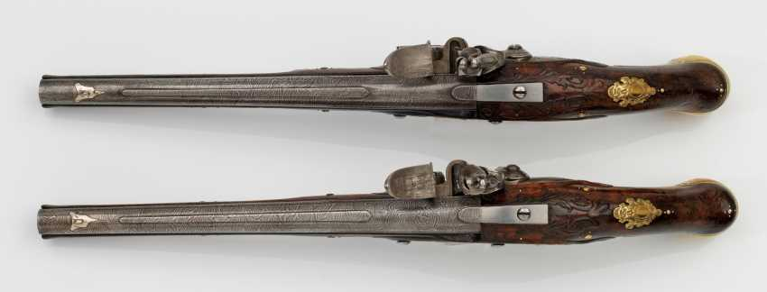 High quality Pair of flintlock pistols of Museum quality - photo 3