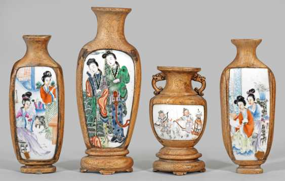 Four Chinese wall vases with figural scenes - photo 1