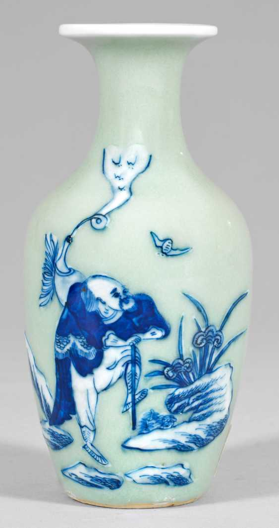 Small Celadon Bottle Vase - photo 1
