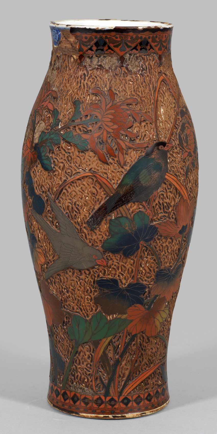 Japanese Cloisonnévase - photo 1