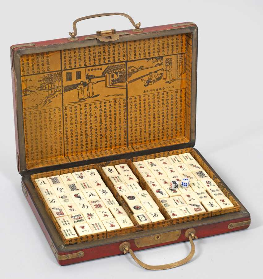 Traditionielles Chinese Mahjong game with case - photo 1