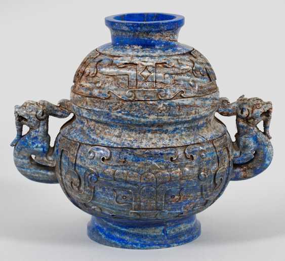 Lapis lazuli censer in the archaic style - photo 1