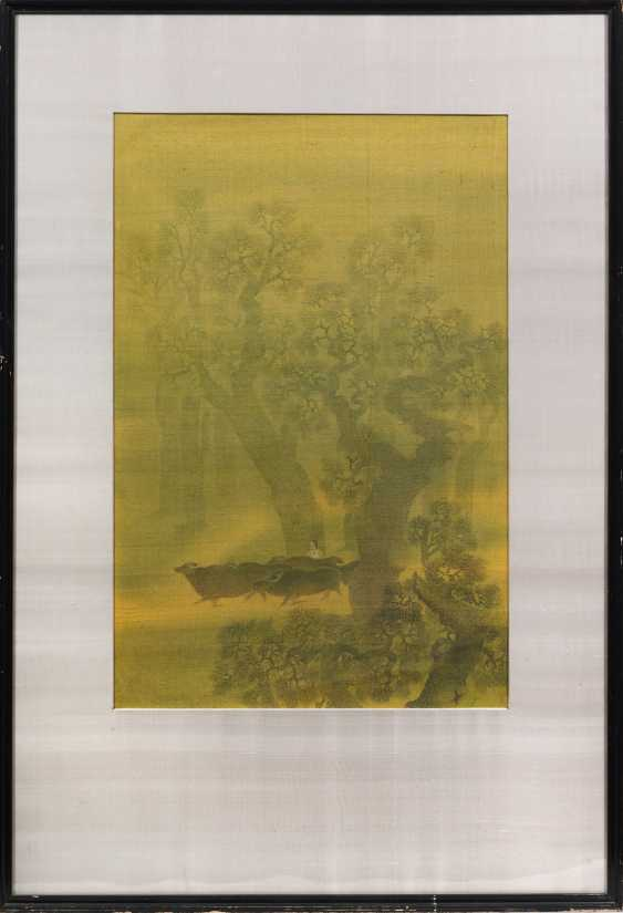 A large Indian silk painting - photo 1