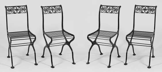 Set of four garden chairs - photo 1