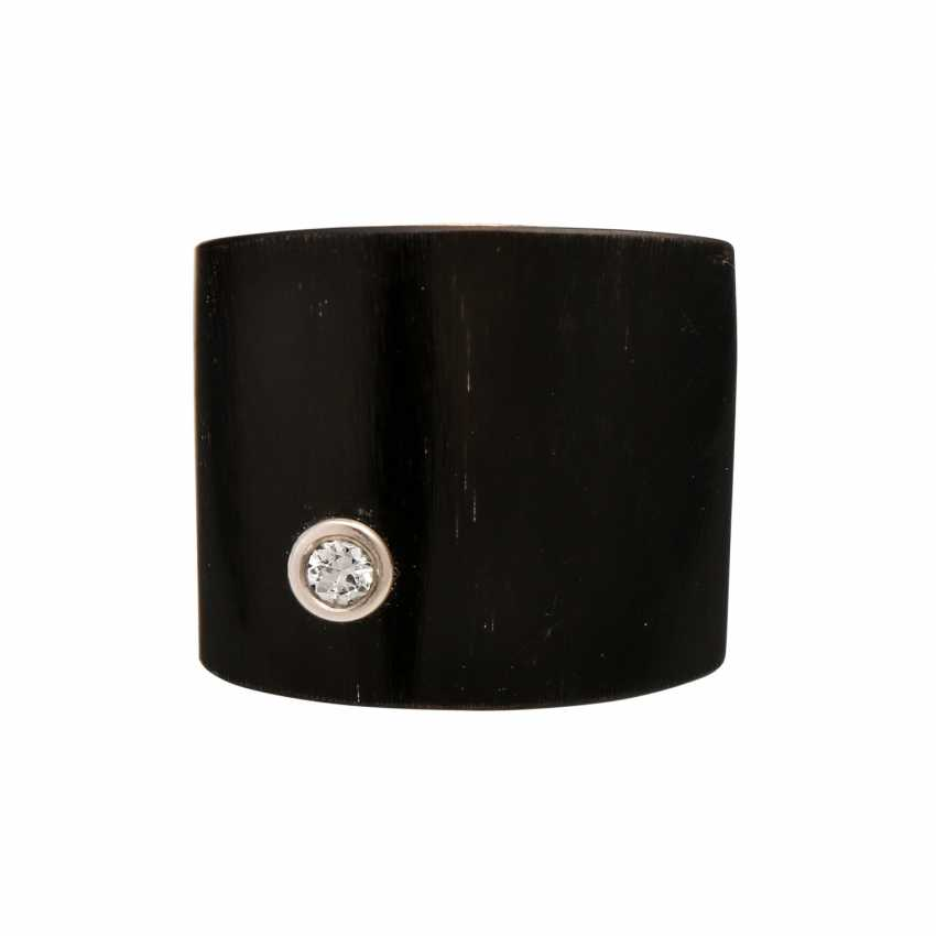 Design ring made of Horn and silver - photo 1