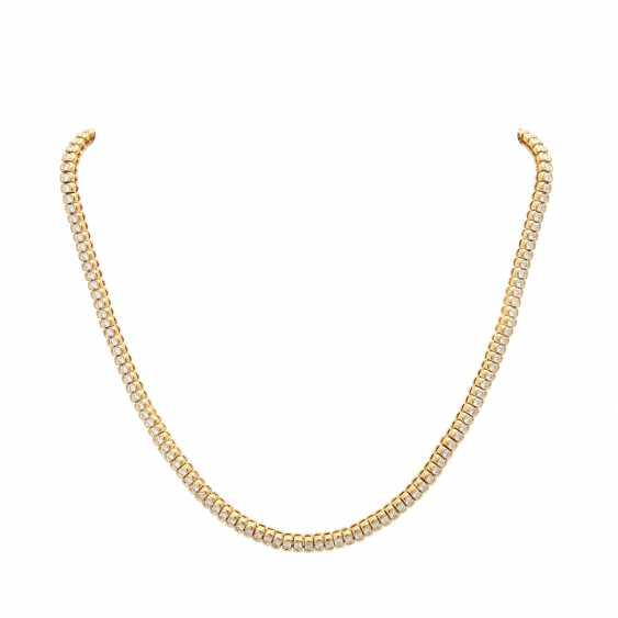 Rivière necklace set with brilliant-cut diamonds - photo 1