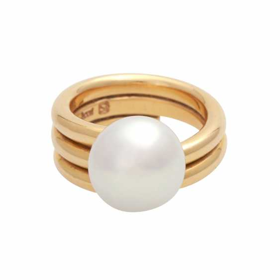 JACOBI Ring with South sea pearl, - photo 1
