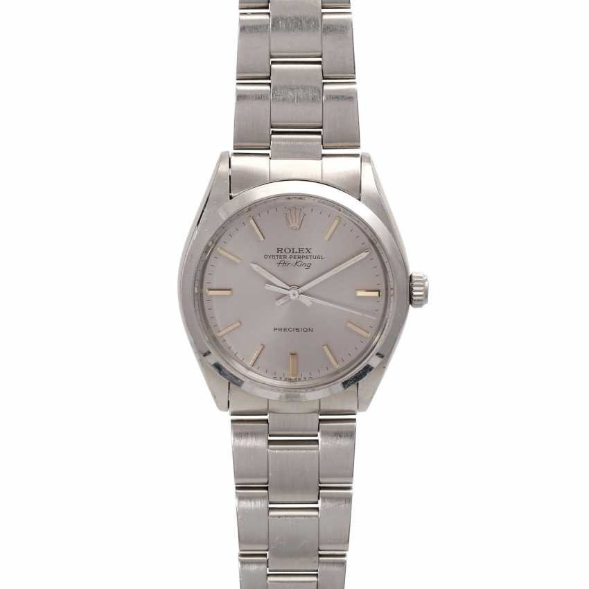 ROLEX Air King Vintage men's watch, Ref. 5500, approx. mid-1980s. Stainless steel. - photo 1