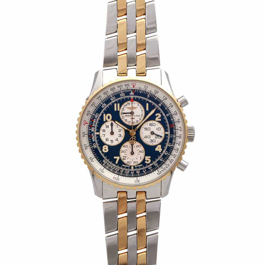 BREITLING Navitimer Airborne Chronograph men's watch, Ref. D 33030, 1990s. Stainless steel/Gold 18K. - photo 1