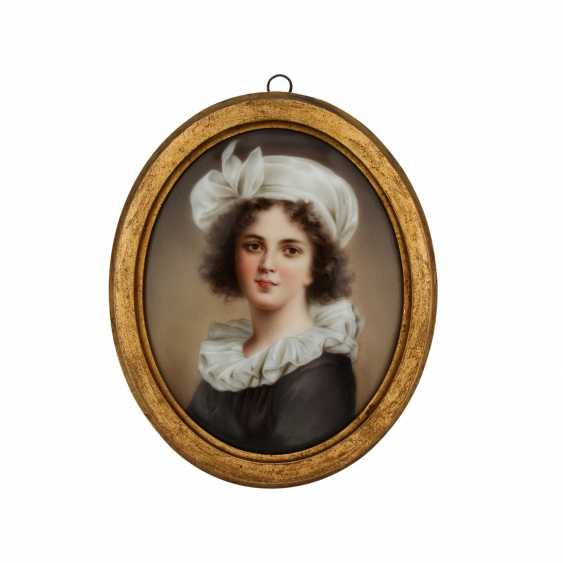 Image plate according to the self-portrait of Elisabeth Vigée-LeBrun, 19./20. Century - photo 1