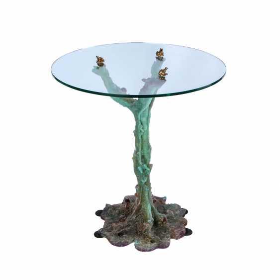 DAUM FRANCE, rare glass table, - photo 1