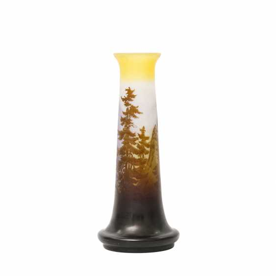 ÉMILE GALLÉ Vase mit Alpenpanorama, 1906-1914 - photo 1