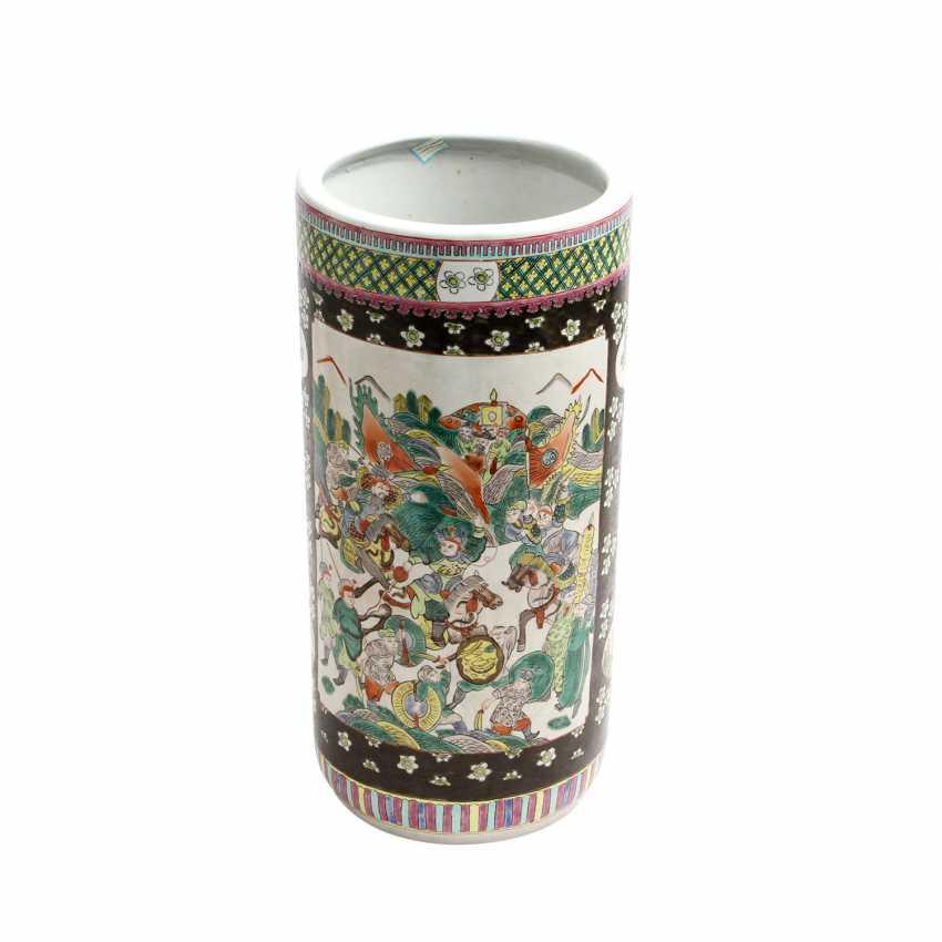 Tube-Shaped Floor Vase. CHINA, 20. Century - photo 1