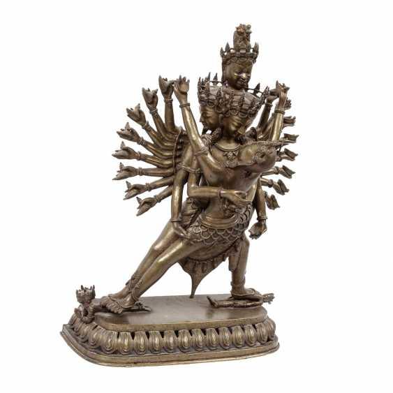 Chakrasamvara made of Bronze. TIBET, 20. Century. - photo 1