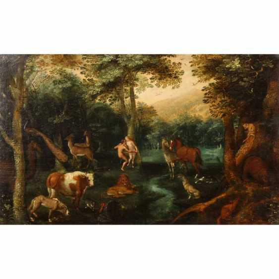 """BOUTTATS, FREDERICK I, ATTR./RADIUS (1612-1661, artists in Antwerp), """"In Paradise"""", - photo 1"""