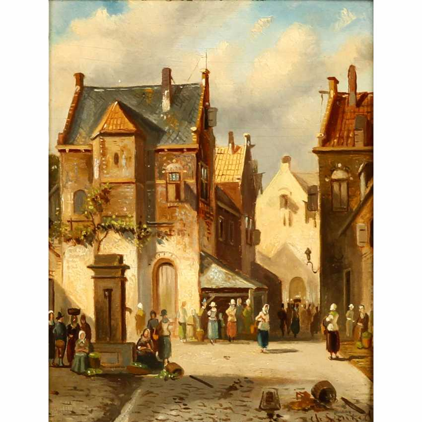 """LEICKERT, CHARLES (1816-1907, Belgian painter), """"market day in the city"""", - photo 1"""