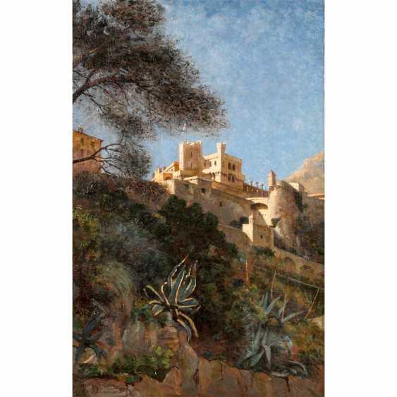 "DRAMARD, GEORG DE (1839-1900), ""Mediterranean city with a castle"", Sintra/Portugall, - photo 1"