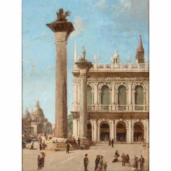 "Painter, ITALY, 19./20. Century, ""Venice, view at the Marcus square"", - photo 1"