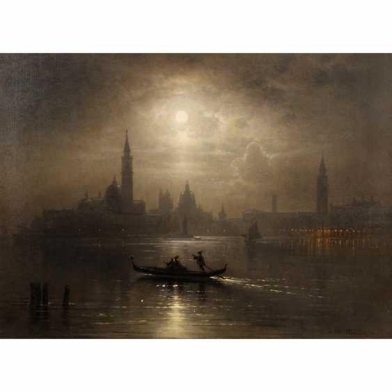 """Healing Mayer, Karl (Munich 1829-1908), """"Venice under a full moon"""", - photo 1"""
