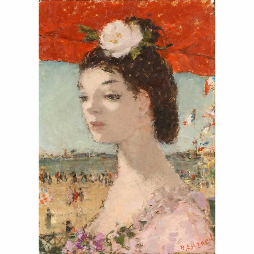 "EDZARD, Dietz (Bremen, 1893 - 1963 Paris) ""lady with white Rose in your hair"", - photo 1"