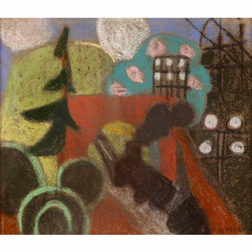 "KERKOVIUS, IDA (1879-1970), ""landscape with a locomotive"", - photo 1"