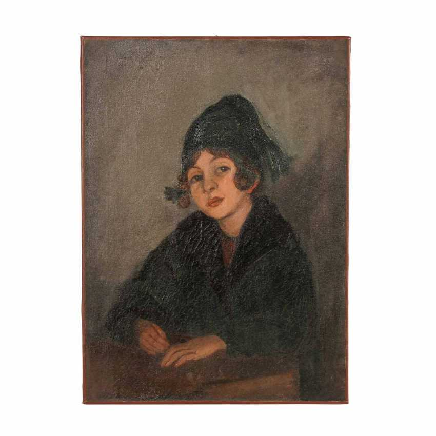 "FAURE, AMANDUS (Hamburg 1874-1931 Stuttgart), ""Portrait of his daughter Lotte"", - photo 1"