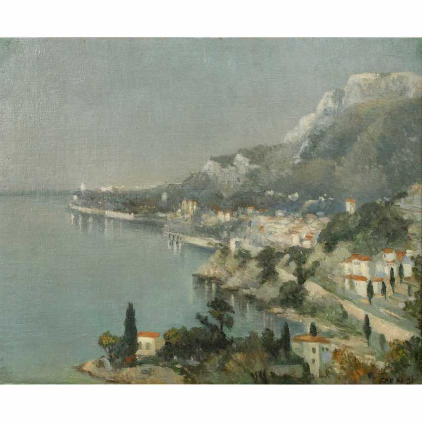"FAURE, AMANDUS (Hamburg 1874-1931 Stuttgart), ""coastal landscape"", - photo 1"