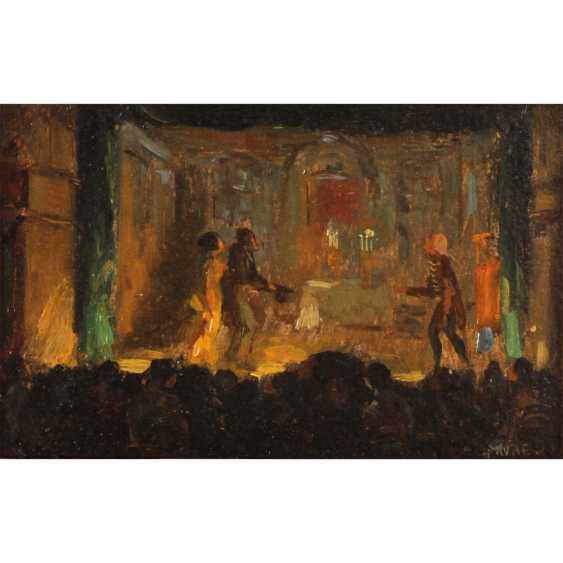 "FAURE, AMANDUS (Hamburg 1874-1931 Stuttgart), ""theatre/circus scene"" - photo 1"