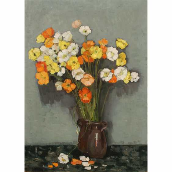 "FAURE, AMANDUS (Hamburg 1874-1931 Stuttgart), ""still life, anemone bouquet"", - photo 1"
