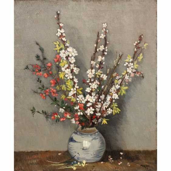 "FAURE, AMANDUS (Hamburg 1874-1931 Stuttgart), ""still life, spring bouquet"", - photo 1"