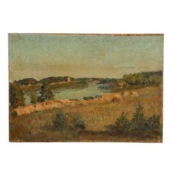 "FAURE, AMANDUS (Hamburg 1874-1931 Stuttgart), ""German and Russian position on the dune, in Friedrich, city of"", - photo 1"